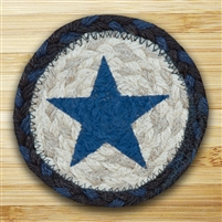 Blue Star Braided Coaster - Set of 4