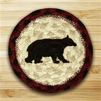 Cabin Bear Braided Coaster - Set of 4