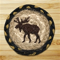 Moose Braided Coaster - Set of 4