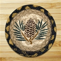 Pinecone Braided Coaster - Set of 4