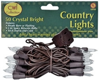 Crystal Bright White Light Strand 50 ct