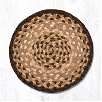Round Trivet - Chocolate/Natural