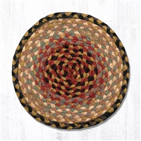 Round Trivet - Burgundy/Gray/Cream