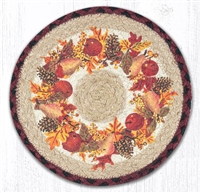 Round Trivet - Autumn Wreath