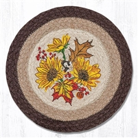 Round Trivet - Autumn Sunflower