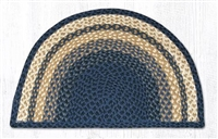 Slice Rug - Light & Dark Blue/Mustard