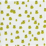 "Front Yard - Frogs - Green 44"" wide"