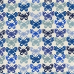 "Panorama - Butterflies - Blue Ribbon, 44"" wide"