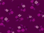 "Steno Pool - Roses - Magenta, 44"" wide"