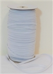 "Knitted Elastic, white - 1/4"" inch wide, price per yard"