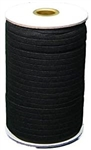 "Knitted Elastic, black - 3/8"" inch wide, price per yard"