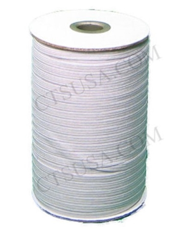 "Knitted Elastic, white - 3/8"" inch wide, price per yard"