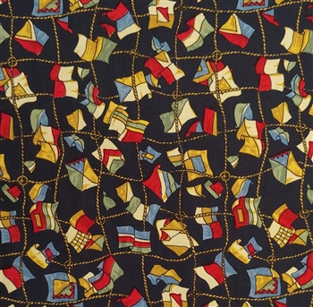 "Nautical Flags Cotton Fabric, 56"" wide"