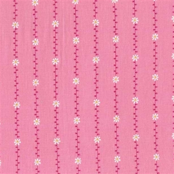 "Daisy Garland in Pink, 44/45"" wide"