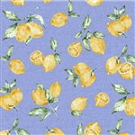 "Limoni on Blue from the Limoncello collection, 44/45"" wide"