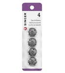 Sewing Machine Bobbins, Metal - Pack of 4