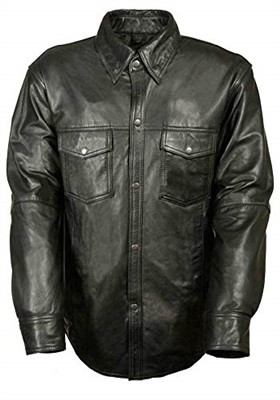 Men's Lightweight Leather Shirt