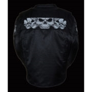 Men's Reflective Skull Textile Jacket