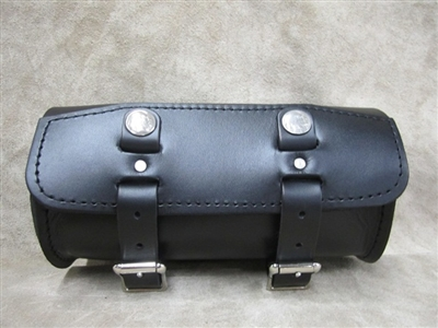Short Round Leather Tool Bag