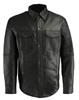 Men's LIghtweight Snap Front Black Shirt