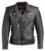 Men's Leather Classic Sidelace M/C Jacket