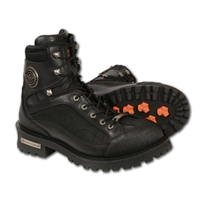 Milwaukee Men's Waterproof Motorcycle Boot with Side Zipper