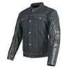Band of Brothers Leather and Denim Jacket (Black)
