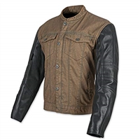 Band of Brothers Leather and Denim Jacket (Brown/Black)