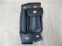 Engine Guard Leather Tool Bag with Bottle Holder