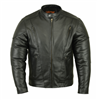 Men's Vented Leather Sport Bike Style Jacket With Gun Pockets