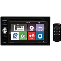 "Boss 6.2"" DDin Receiver, Touchscreen, Bluetooth, DVD/CD, USB/SD, Front Aux"