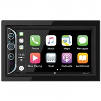 Dual Double Din 6.2 Inch LCD Screen Mechless Bluetooth USB Carplay