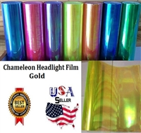 Chameleon Headlight Film-Gold (12in X 32ft)