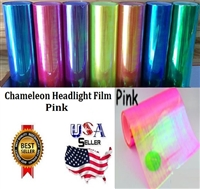 Chameleon Headlight Film-Pink (12in X 32ft)