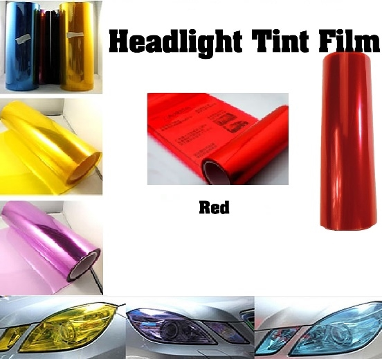 Red Window Tint >> Car Headlight Film Red 12in X 32ft