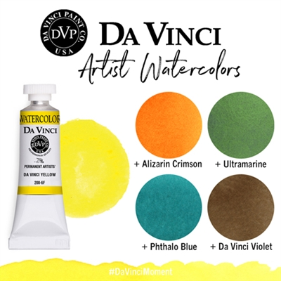 <!--(04)--> Da Vinci Yellow (8mL Watercolor)