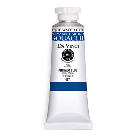 (14) Phthalo Blue (37mL Gouache)