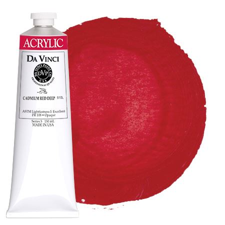<!--(15)--> Cadmium Red Deep (150mL HB Acrylic)
