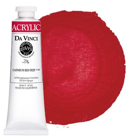 <!--(15)--> Cadmium Red Deep (60mL HB Acrylic)