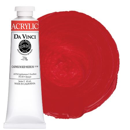 <!--(14)--> Cadmium Red Medium (60mL HB Acrylic)