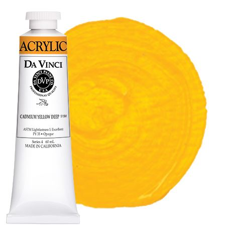 <!--(06)--> Cadmium Yellow Deep (60mL HB Acrylic)