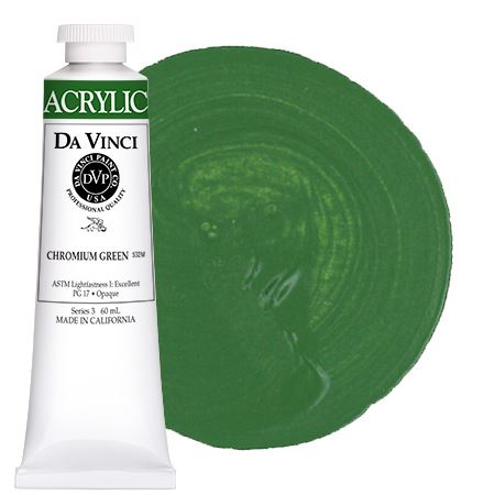 <!--(46)--> Chromium Oxide Green (60mL HB Acrylic)