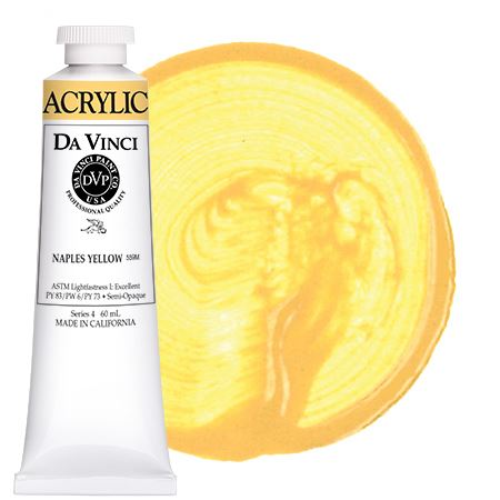 <!--(10)--> Naples Yellow (60mL HB Acrylic)