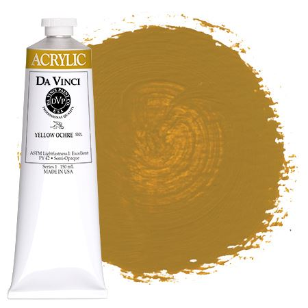 <!--(50)--> Yellow Ochre (150mL HB Acrylic)