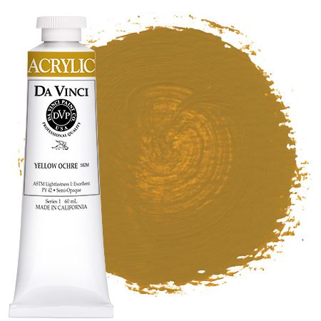 <!--(50)--> Yellow Ochre (60mL HB Acrylic)