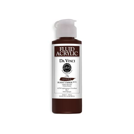 (45) Burnt Umber (4oz Fluid Acrylic)
