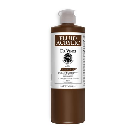 (45) Burnt Umber (16oz Fluid Acrylic)
