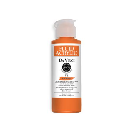 (08) Cadmium Orange (Hue) (4oz Fluid Acrylic)