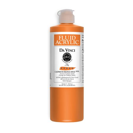 (08) Cadmium Orange (Hue) (16oz Fluid Acrylic)