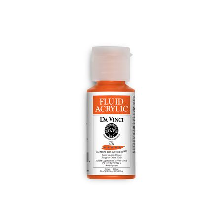 (09) Cadmium Red Light (Hue) (1oz Fluid Acrylic)